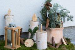 Diseño decorativo de la entrada en invierno Fotografía de archivo libre de regalías