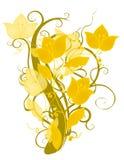 Diseño decorativo de la flor del oro stock de ilustración