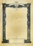 Diseño decorativo de la frontera de la vendimia Imagenes de archivo