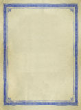 Diseño decorativo de la frontera de la vendimia Imágenes de archivo libres de regalías