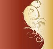 Diseño decorativo de la plantilla del Flourish, de oro Foto de archivo libre de regalías