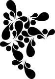 Diseño decorativo del abstracd negro