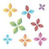 Diseño decorativo del vector de la flor stock de ilustración