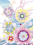 Diseño decorativo floral Foto de archivo
