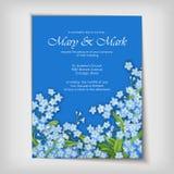 Diseño decorativo floral de la boda o de la invitación Imagenes de archivo