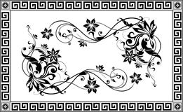 Diseño decorativo ornamental de los elementos del vector Foto de archivo