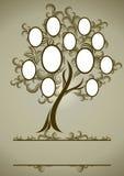 Diseño del árbol de familia del vector con los marcos Imagenes de archivo