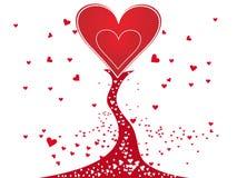 Diseño del árbol de la tarjeta del día de San Valentín Fotos de archivo libres de regalías