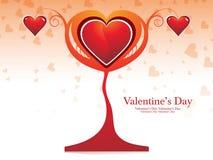 Diseño del árbol de la tarjeta del día de San Valentín Foto de archivo
