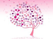Diseño del árbol de la tarjeta del día de San Valentín Fotografía de archivo libre de regalías