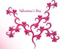 Diseño del árbol de la tarjeta del día de San Valentín Imagen de archivo libre de regalías