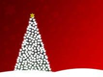 Diseño del árbol de navidad imagenes de archivo