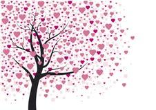 Diseño del árbol del corazón Imagenes de archivo