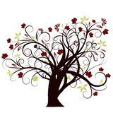 Diseño del árbol del otoño del vector Fotos de archivo libres de regalías