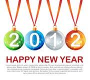 Diseño del Año Nuevo ilustración del vector