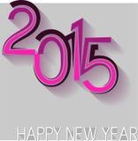 Diseño del Año Nuevo 2015 Foto de archivo libre de regalías
