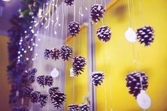 Diseño del Año Nuevo con los conos Foto de archivo