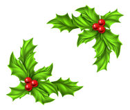 Diseño del acebo de la Navidad Imagenes de archivo