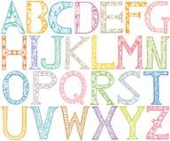 Diseño del alfabeto de ABC Foto de archivo