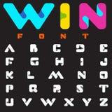 Diseño del alfabeto de la ciencia de la tecnología del vector de la fuente Logotipo de la letra del ABC Foto de archivo