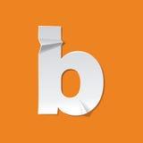 Diseño del alfabeto inglés del doblez de la letra minúscula de B nuevo Fotos de archivo