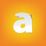 Diseño del alfabeto inglés del doblez de la letra minúscula un nuevo Imagenes de archivo