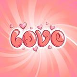 Diseño del amor Foto de archivo