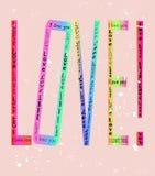 Diseño del amor Foto de archivo libre de regalías
