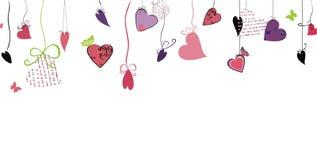 Diseño del amor con los corazones Foto de archivo