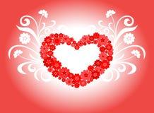 Diseño del amor del corazón Imagenes de archivo