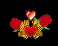 Diseño del amor. Número 1 en un conjunto de 5. Fotos de archivo