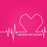 Diseño del amor para el día de tarjeta del día de San Valentín Fotografía de archivo libre de regalías
