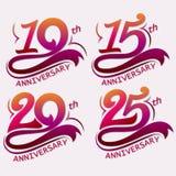 Diseño del aniversario, muestra de la celebración de la plantilla Imagen de archivo libre de regalías