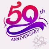 Diseño del aniversario, muestra de la celebración de la plantilla ilustración del vector