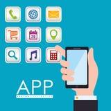 Diseño del App Fotografía de archivo