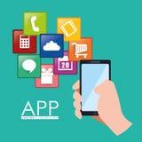Diseño del App Imagen de archivo libre de regalías