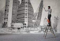 Diseño del arquitecto libre illustration