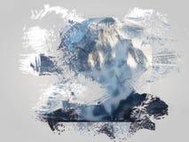 Diseño del arte de Digitaces Foto de archivo