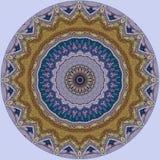 Diseño del arte de Digitaces, estrella de oro de mosaico del iwith colorido del modelo Fotografía de archivo libre de regalías