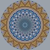 Diseño del arte de Digitaces, flores azules de mosaico del iwith colorido del modelo i Foto de archivo