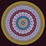 Diseño del arte de Digitaces, modelo de mosaico colorido en la lila de oro y r Imágenes de archivo libres de regalías