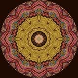 Diseño del arte de Digitaces, modelo de mosaico colorido en de oro y azul rojos Fotografía de archivo