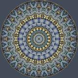 Diseño del arte de Digitaces, modelo de mosaico en de oro y gris brillantes Fotos de archivo