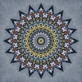 Diseño del arte de Digitaces, modelo de mosaico en de oro y gris brillantes Imagenes de archivo