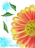 Diseño del arte de las flores de la acuarela Fotos de archivo libres de regalías