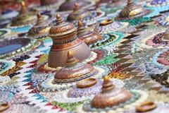 Diseño del arte del primer del adornamiento de piedra mágico colorido Foto de archivo libre de regalías