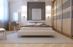 Diseño del avangard del dormitorio principal Fotos de archivo libres de regalías