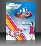 Diseño del aviador del partido de la música ilustración del vector