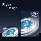 Diseño del aviador o de la cubierta Fotografía de archivo