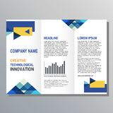 Diseño del aviador Plantilla del folleto del negocio ilustración del vector